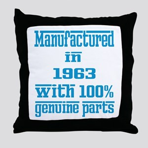 Manufactured in 1963 with 100% Genuin Throw Pillow