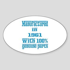 Manufactured in 1961 with 100% Genu Sticker (Oval)