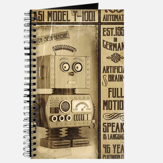Fictional Vintage Robot Poster Journal