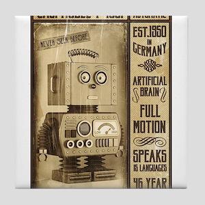 Fictional Vintage Robot Poster Tile Coaster