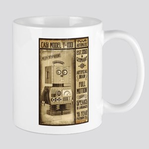 Fictional Vintage Robot Poster Mugs