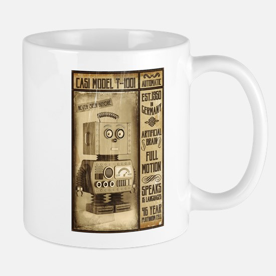 Fictional Vintage Robot Poster Mugs