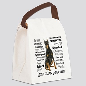 Doberman Traits Canvas Lunch Bag