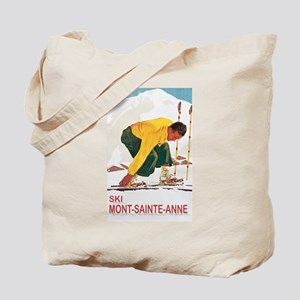 Ski Mont-Sainte-Ann Tote Bag