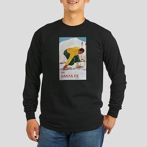 Ski Santa Fe Long Sleeve Dark T-Shirt