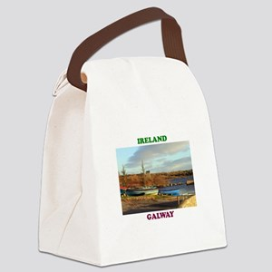 Boats at Annaghdown Canvas Lunch Bag