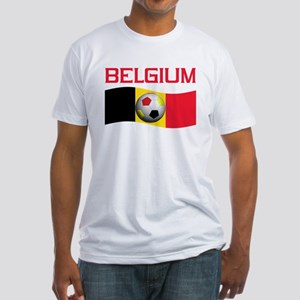 TEAM BELGIUM WORLD CUP SOCCER Fitted T-Shirt