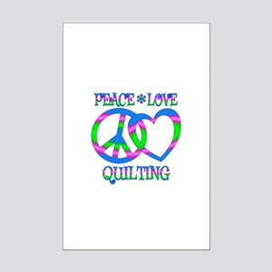 Peace Love Quilting Mini Poster Print