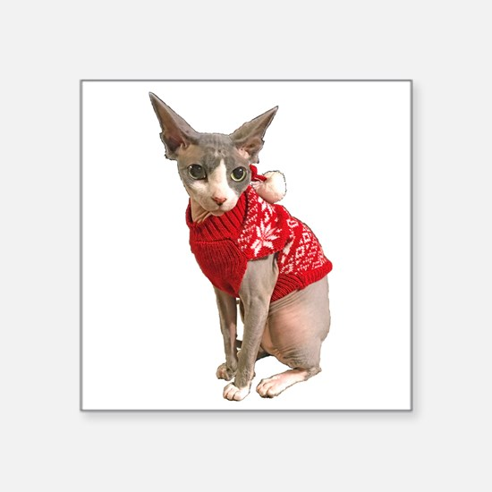 "sphynx cat ugly Square Sticker 3"" x 3"""