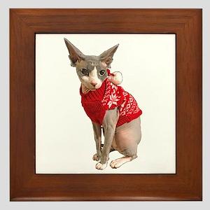 sphynx cat ugly Framed Tile