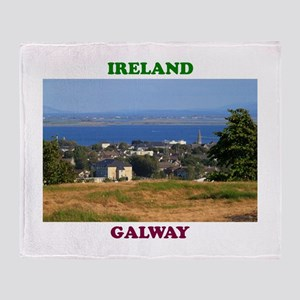 Circular Road, Galway Bay Throw Blanket