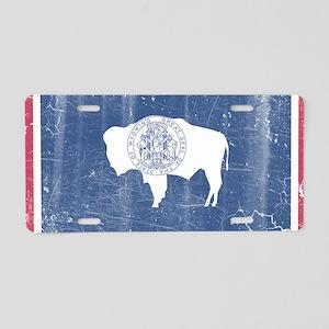 Vintage State Flag of Wyomi Aluminum License Plate