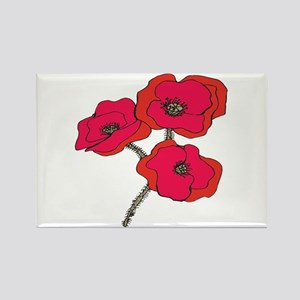 Poppy Rectangle Magnet