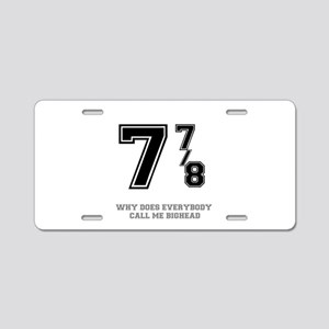 BIG HEAD - 7 7-8 Aluminum License Plate