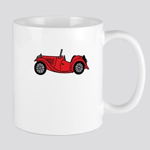 Red MGTC Car Cartoon Mug