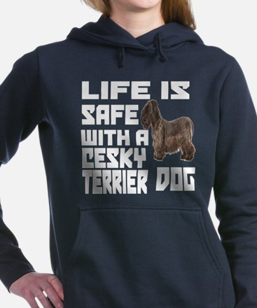Life Is Safe With A Cesk Women's Hooded Sweatshirt