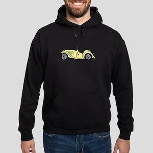 Cream MGTC Car Cartoon Hoodie (dark)