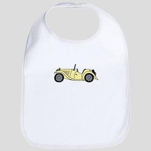Cream MGTC Car Cartoon Bib