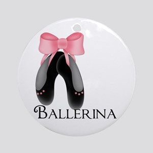 Ballerina Shoes 2 Ornament (Round)