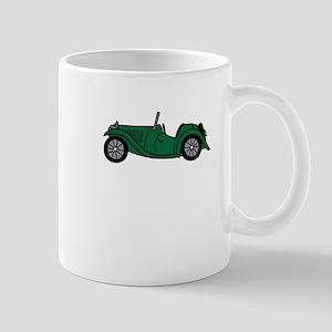 Green MGTC Car Cartoon Mug