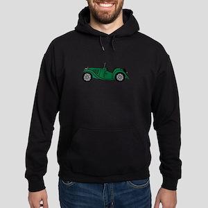 Green MGTC Car Cartoon Hoodie (dark)