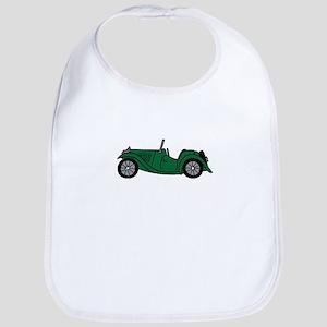 Green MGTC Car Cartoon Bib