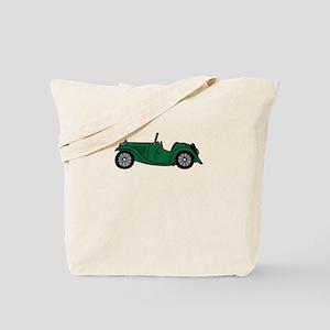 Green MGTC Car Cartoon Tote Bag