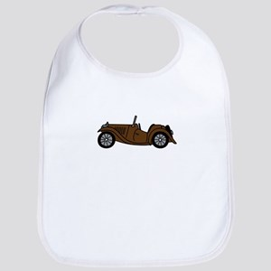 Brown MGTC Car Cartoon Bib
