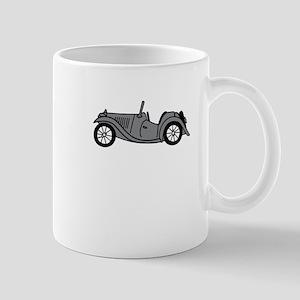 Silver Gray Grey MGTC Car Cartoon Mug