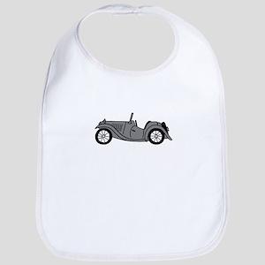 Silver Gray Grey MGTC Car Cartoon Bib