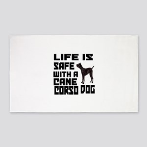 Life Is Safe With A Cane Corso Area Rug