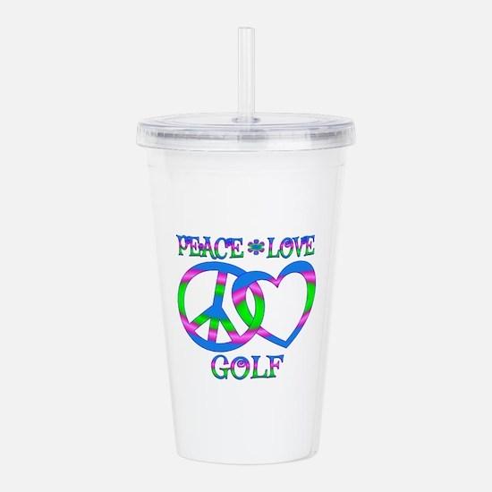 Peace Love Golf Acrylic Double-wall Tumbler