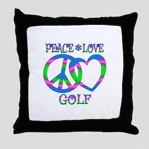 Peace Love Golf Throw Pillow