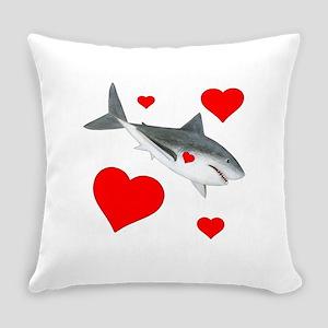 Valentine Shark Everyday Pillow