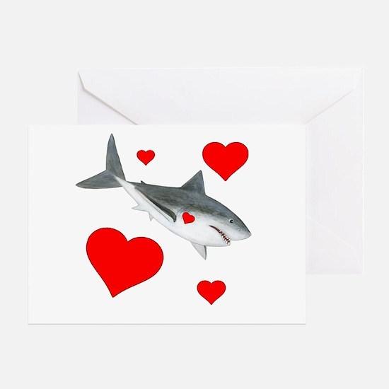 Valentine Shark Greeting Cards