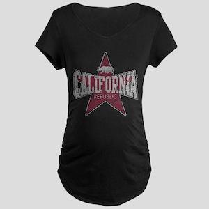 Vintage California Republic Star Maternity T-Shirt