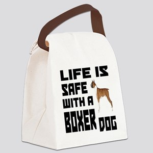 Life Is Safe With A Boxer Canvas Lunch Bag