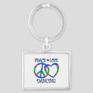 Peace Love Dancing Landscape Keychain