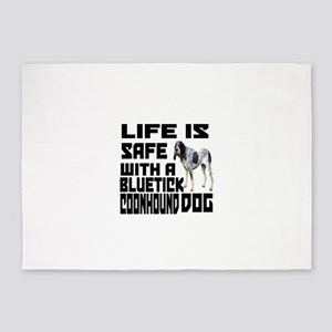Life Is Safe With A Bluetick Coonho 5'x7'Area Rug