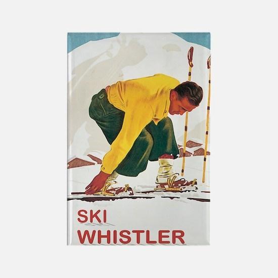 Ski Whistler BC Rectangle Magnet