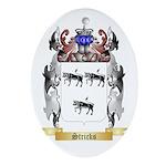 Stricks Oval Ornament