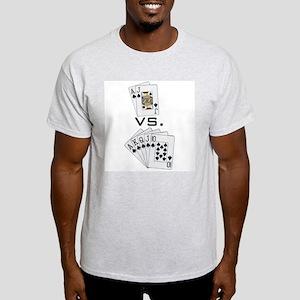 """Blackjack Beats Poker"" Ash Grey T-Shirt"