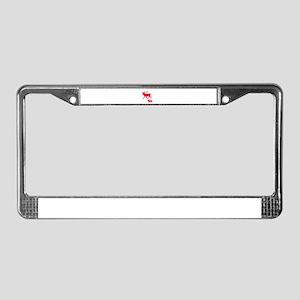 Pink Moose Pair License Plate Frame