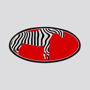 Zebra Cut Out on Red Patch