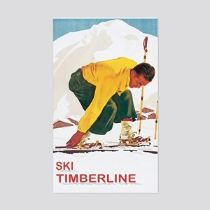 Ski Timberline Mt Hood Rectangle Sticker