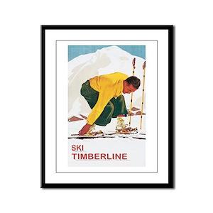 Ski Timberline Mt Hood  Framed Panel Print