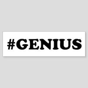 Genius (bumper) Bumper Sticker