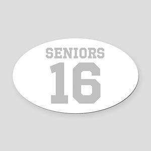 SENIORS 16 Oval Car Magnet