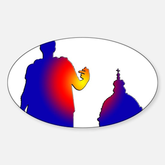 Caesar and the Church Oval Decal