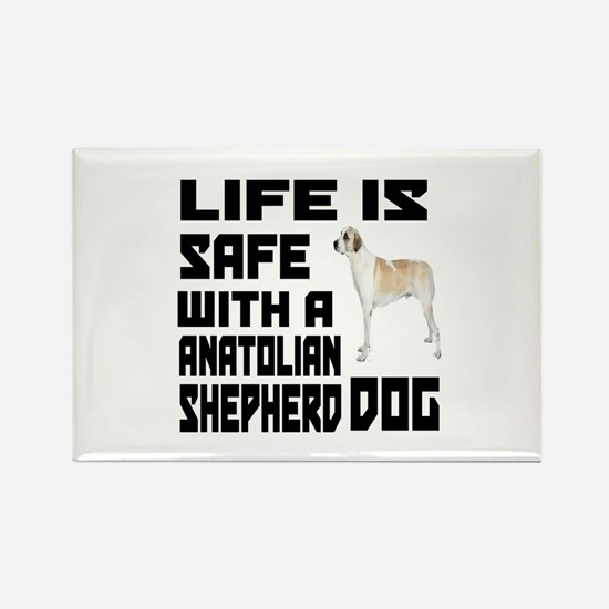 Life Is Safe With A An Rectangle Magnet (100 pack)